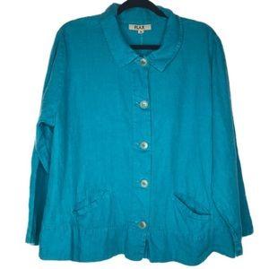 Flax Womens Blazer Jacket Top Size M